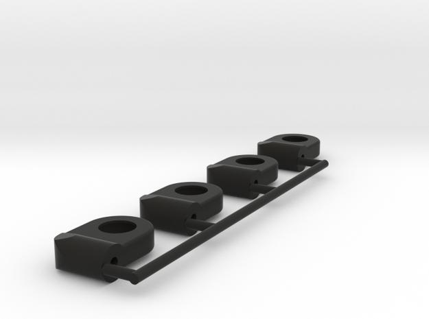 rotule M2 traxxas ball Ushort x4 in Black Natural Versatile Plastic
