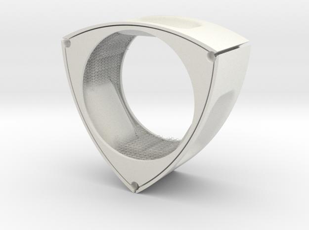 s5_hexagon_01 in White Natural Versatile Plastic