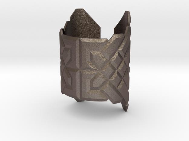 Viking Bracelet in Polished Bronzed-Silver Steel