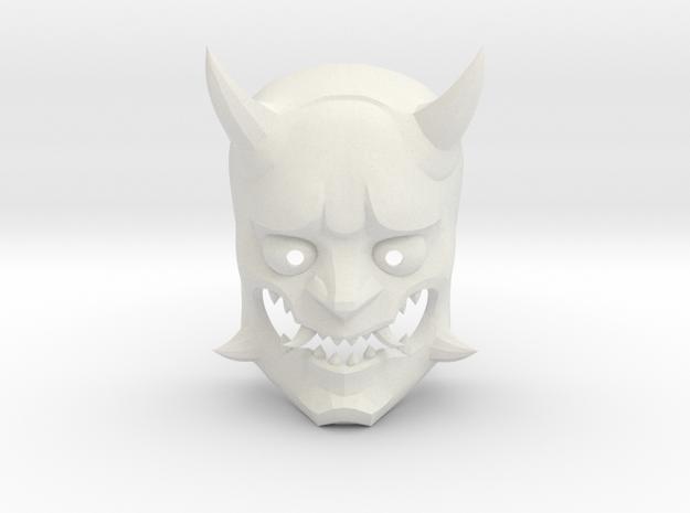 Overwatch Genji Oni mask in White Natural Versatile Plastic