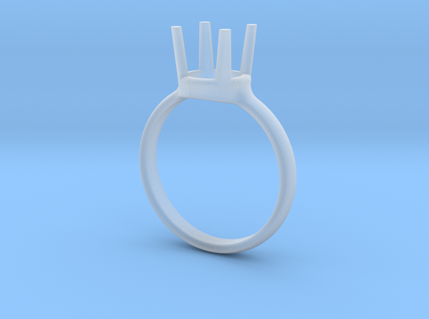 diamond ring size 5.5 in Smoothest Fine Detail Plastic