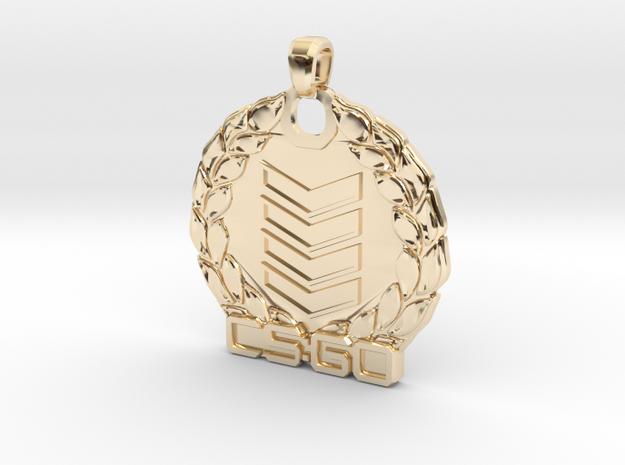 CS:GO - Silver 4 Pendant in 14K Yellow Gold