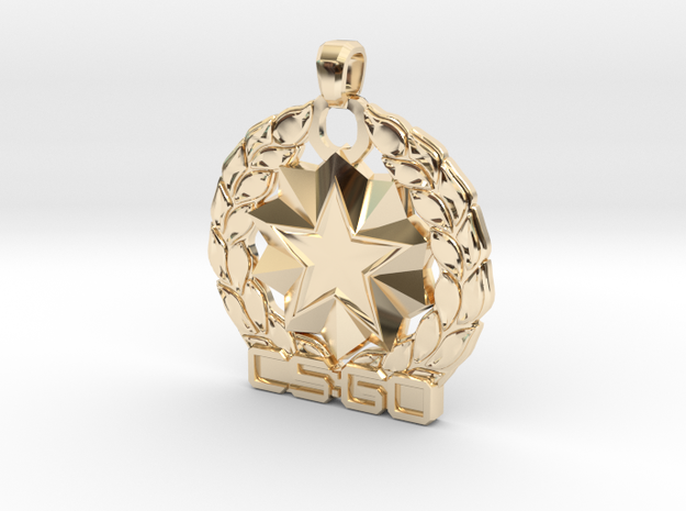 CS:GO - Distinguished Master Guardian Pendant in 14K Yellow Gold