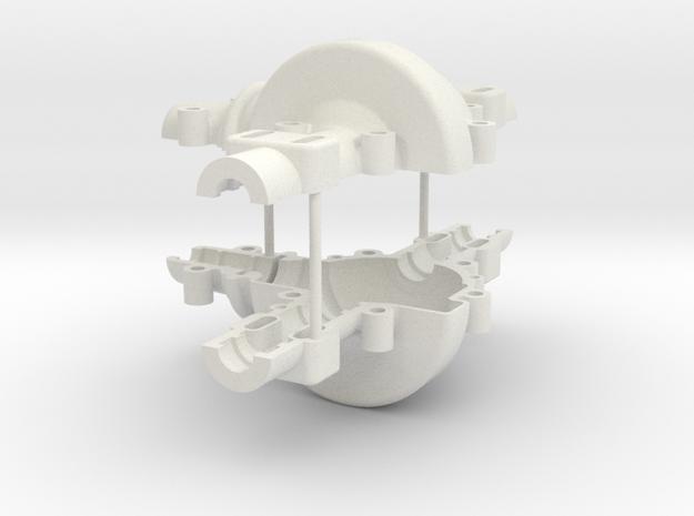 Diff-Housing-Set in White Natural Versatile Plastic