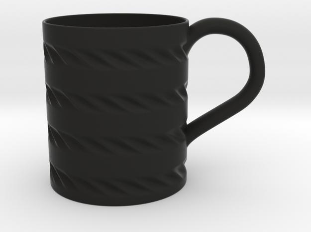 Decorative Mug in Black Natural Versatile Plastic