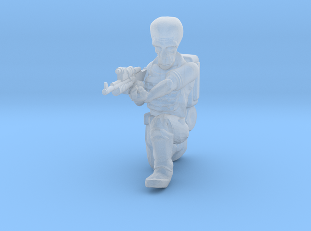 Alien Trooper (35mm Scale Miniature) in Smooth Fine Detail Plastic