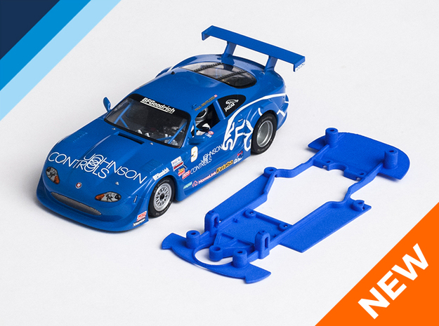 1/32 Scalextric Jaguar XKR Chassis for Slot.it pod in White Natural Versatile Plastic