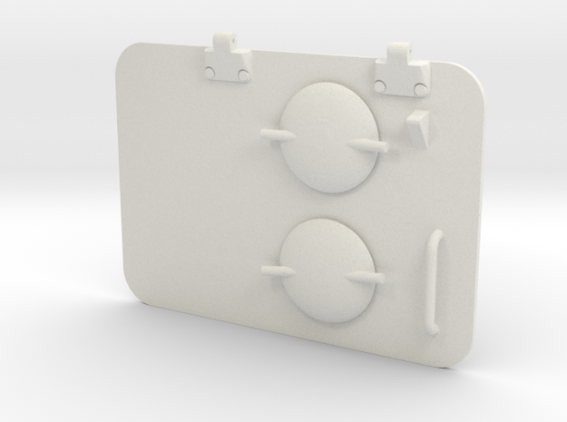 1/16 Panther D Engine Hatch  in White Natural Versatile Plastic