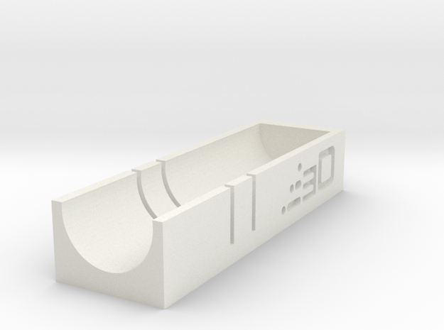Short Stefan Dart Cutting Jig (1 Dart) in White Natural Versatile Plastic