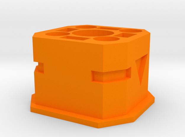 Shoulder Stock Interface for Nerf N-Strike Modulus in Orange Processed Versatile Plastic
