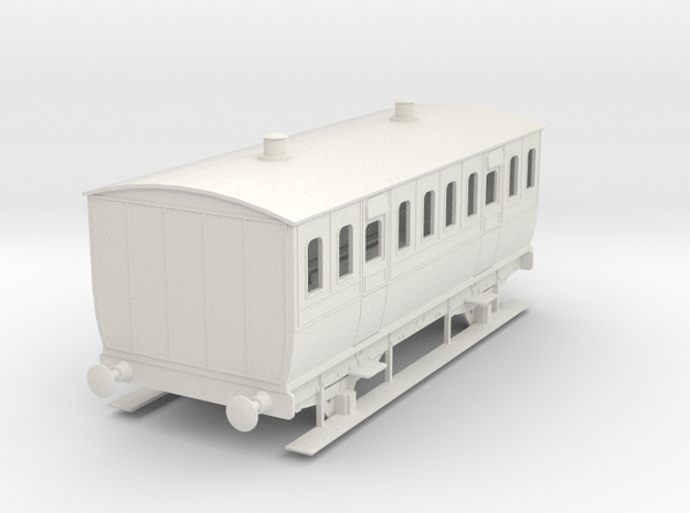 0-55-mgwr-4w-3rd-class-coach in White Natural Versatile Plastic