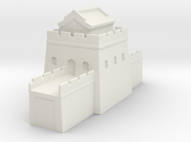 the grat wall of china 6mm 1/285  tower s roof  in White Natural Versatile Plastic