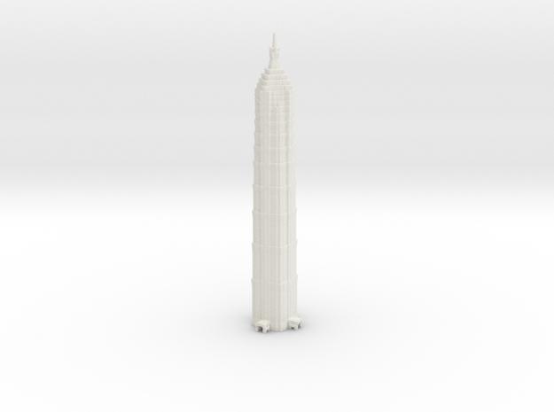 Jin Mao Tower - Shanghai (6 inch) in White Natural Versatile Plastic