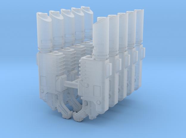 Delaque Laspistol (x10) in Smooth Fine Detail Plastic