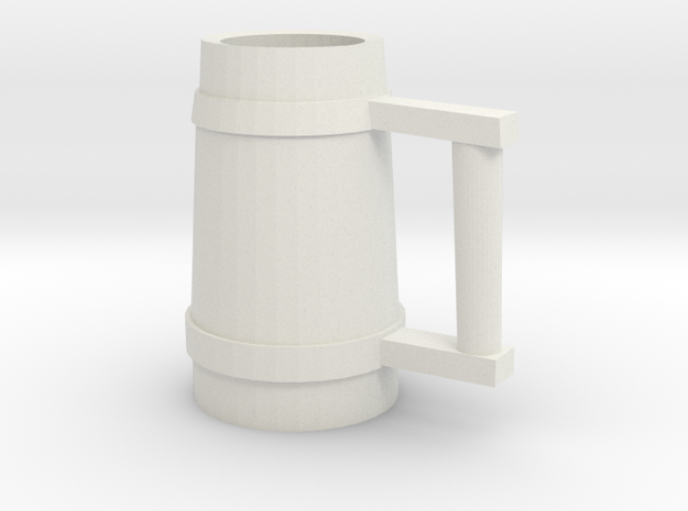 Drinking Stein 02 in White Natural Versatile Plastic