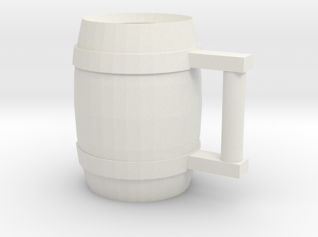 Drinking Stein 03 in White Natural Versatile Plastic