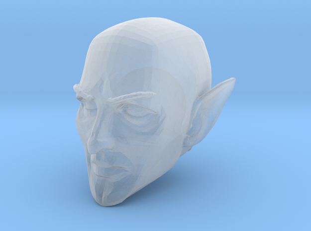 Elf Cleric Head Bald 1 for Mythic Legions 2.0 in Smooth Fine Detail Plastic
