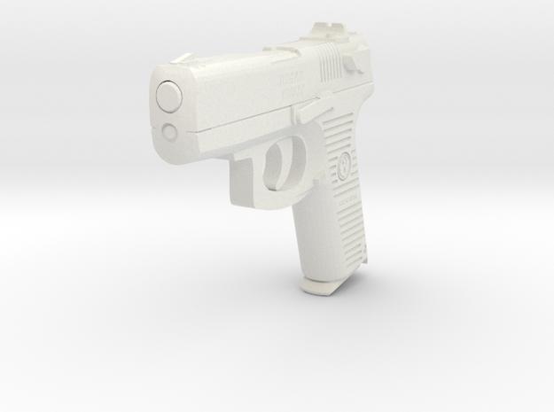 1:3 Miniature Ruger P95DC Semi-automatic pistol in White Natural Versatile Plastic