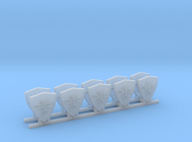 Black Templars Shield (5 pcs. left, 5 pcs. right) in Smooth Fine Detail Plastic