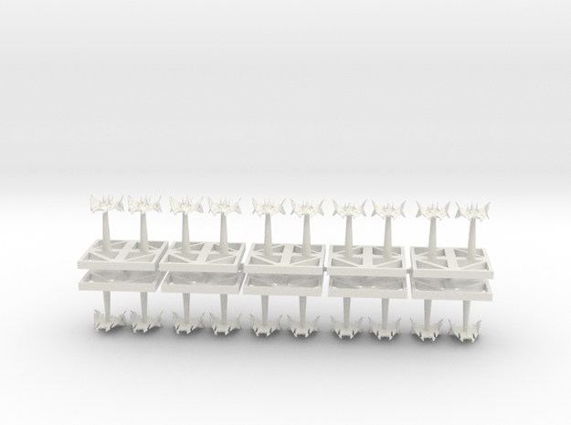 Torpedo Hell Talons - Concept C  in White Natural Versatile Plastic