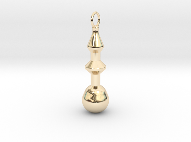 Shaped Earring in 14K Yellow Gold
