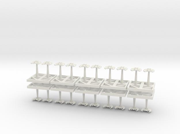 Monolith Ordinance - Bombers - Concept B in White Natural Versatile Plastic