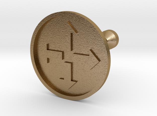 Arrowed Cufflink in Polished Gold Steel