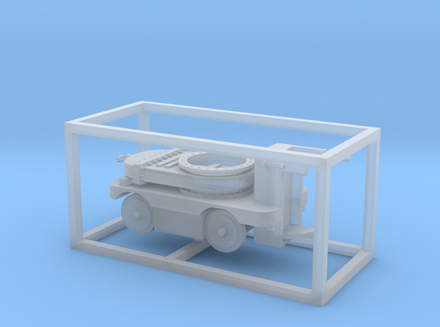 E-Karren Flachwagen Absperrschieber 1m - 1:120 TT in Smooth Fine Detail Plastic