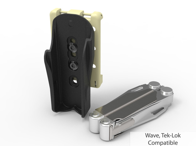 Tek-Lok Compatible Leatherman Tool Holster in Black Natural Versatile Plastic: Small