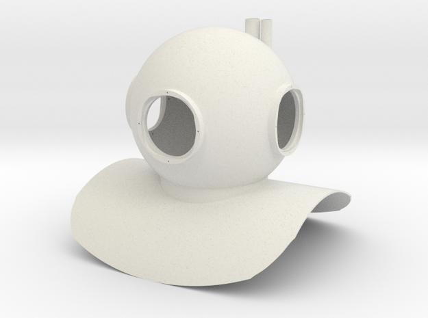 Mark 6 Diving Helmet Statue Toy in White Natural Versatile Plastic