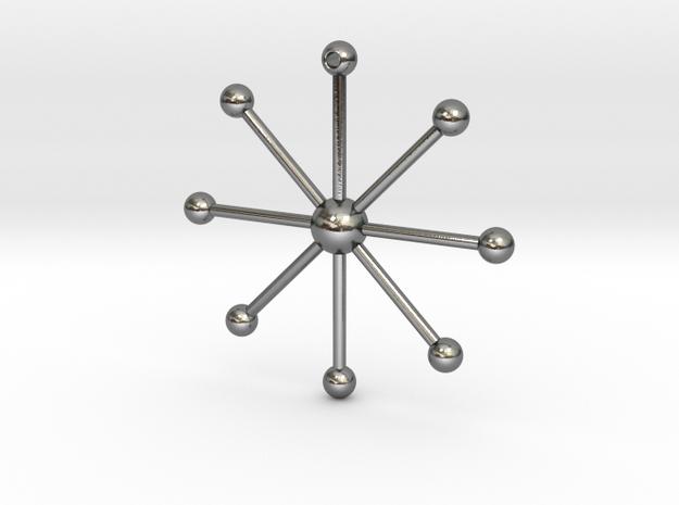 Star Keychain in Polished Silver