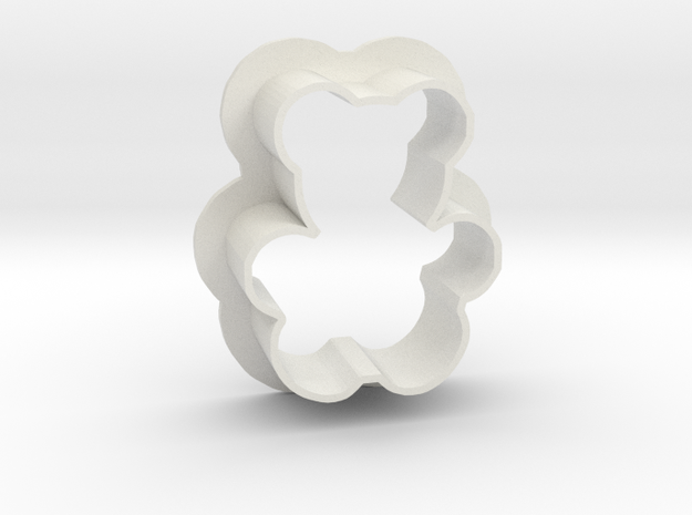 Teddy cookie cutter in White Natural Versatile Plastic