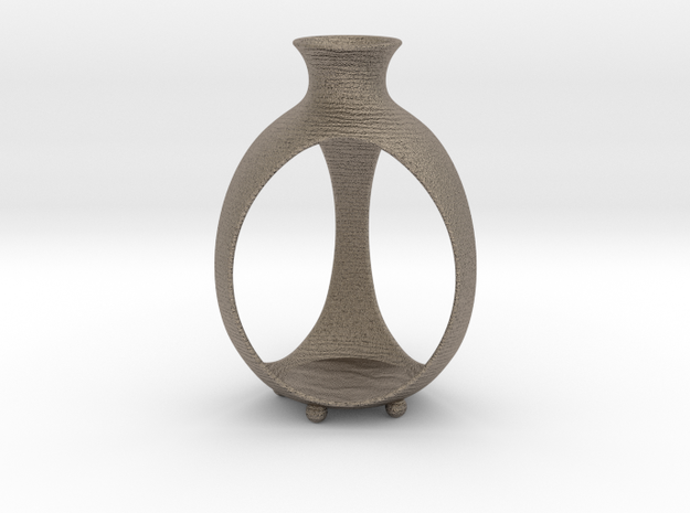 Candle holder | Bud in Matte Bronzed-Silver Steel