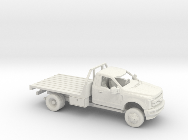 1/50  2017 Ford F-Series Reg Cab Flatbed Kit in White Natural Versatile Plastic