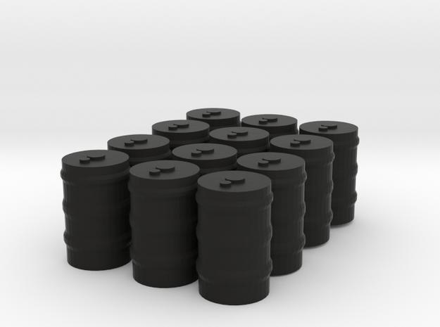 12 55 gallon drums in Black Natural Versatile Plastic: 1:300
