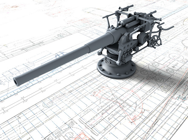 "1/35 German 8.8 cm/45 (3.46"") SK L/45 Gun in Smooth Fine Detail Plastic"
