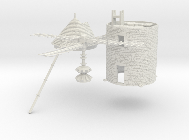 HOmill01 - Windmill in White Natural Versatile Plastic