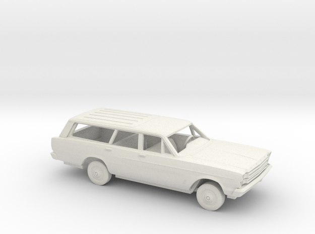 1/25 1966 Ford Galaxie 500 Station Wagon Kit in White Natural Versatile Plastic