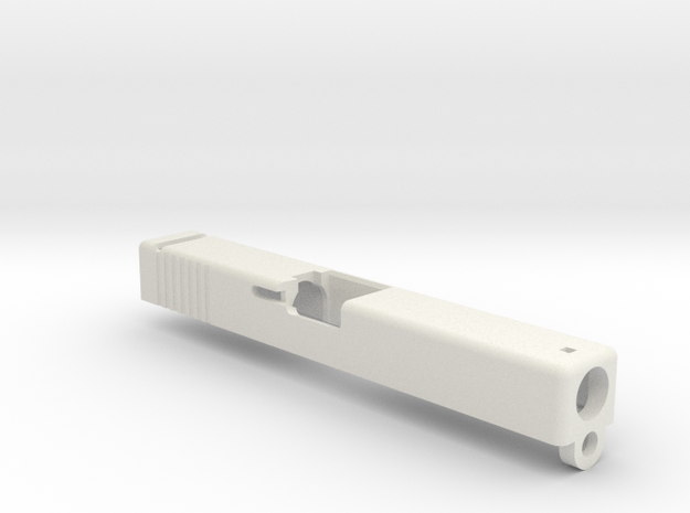 Airsoft Glock 18C GBB slide in White Natural Versatile Plastic