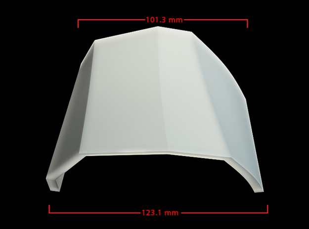 Iron Man Mark IV Right Upper Ankle Armor 3d printed CG Render (Front Measurements)
