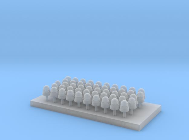 Telephone/Telegraph Insulators Type B 1:20.3 scale in Smooth Fine Detail Plastic
