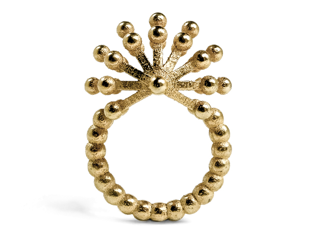 Urchin Cocktail Ring in Polished Gold Steel: 7.25 / 54.625