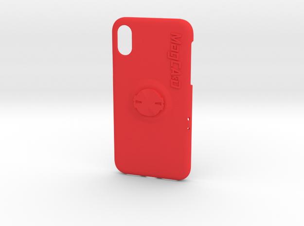 iPhone X Garmin Mount Case - Centre in Red Processed Versatile Plastic