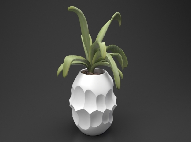 Subtraction Vase Type A in White Natural Versatile Plastic: Extra Small