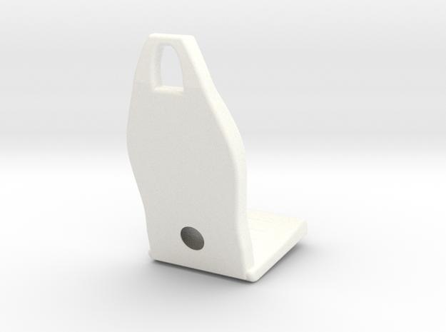 1.5 EC120 / ECUREUIL SEAT (A) in White Processed Versatile Plastic