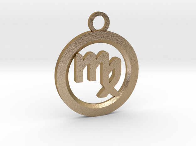 Virgo in Polished Gold Steel