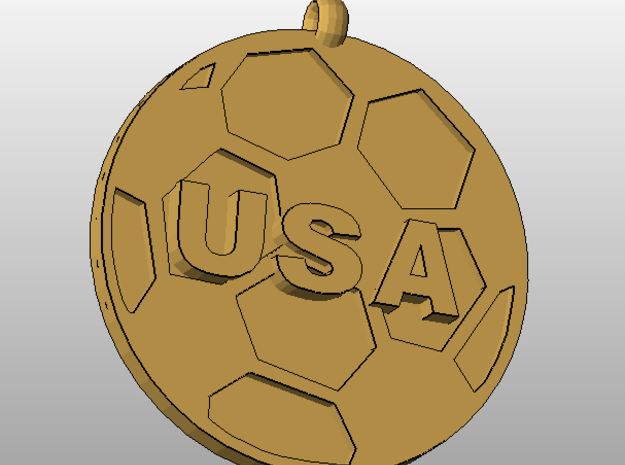USAsoccer in Stainless Steel