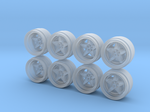SK1 9-0 Hot Wheels Rims in Smoothest Fine Detail Plastic