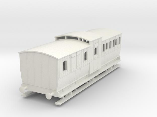 0-64-mgwr-6w-brake-3rd-coach in White Natural Versatile Plastic