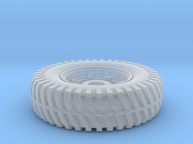 Humber Armored Car Tire 1:24 Scale in Smooth Fine Detail Plastic